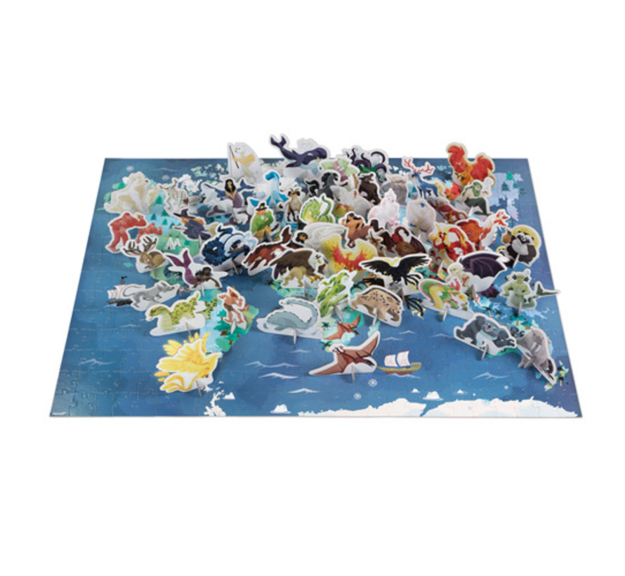 Reuzenpuzzel Educatief Mythes en Legendes 350 pcs