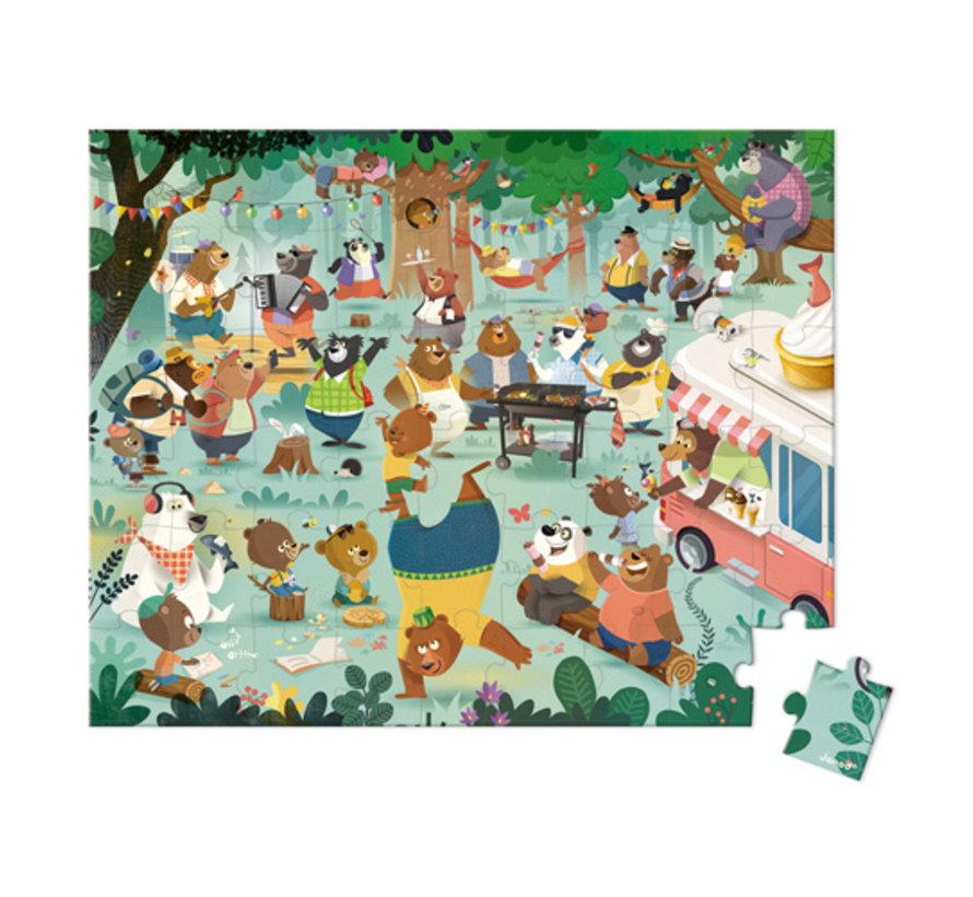 Puzzel Berenfamilie in Opbergkoffer