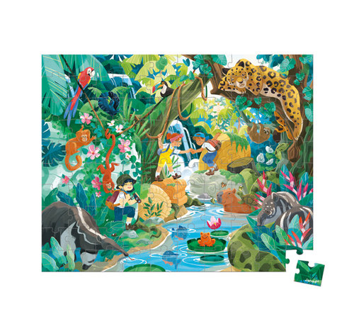 Janod Puzzel Jungle Avontuur in Opbergkoffer
