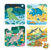 Janod Puzzel Dinosaurus 4-delig in Opbergkoffer
