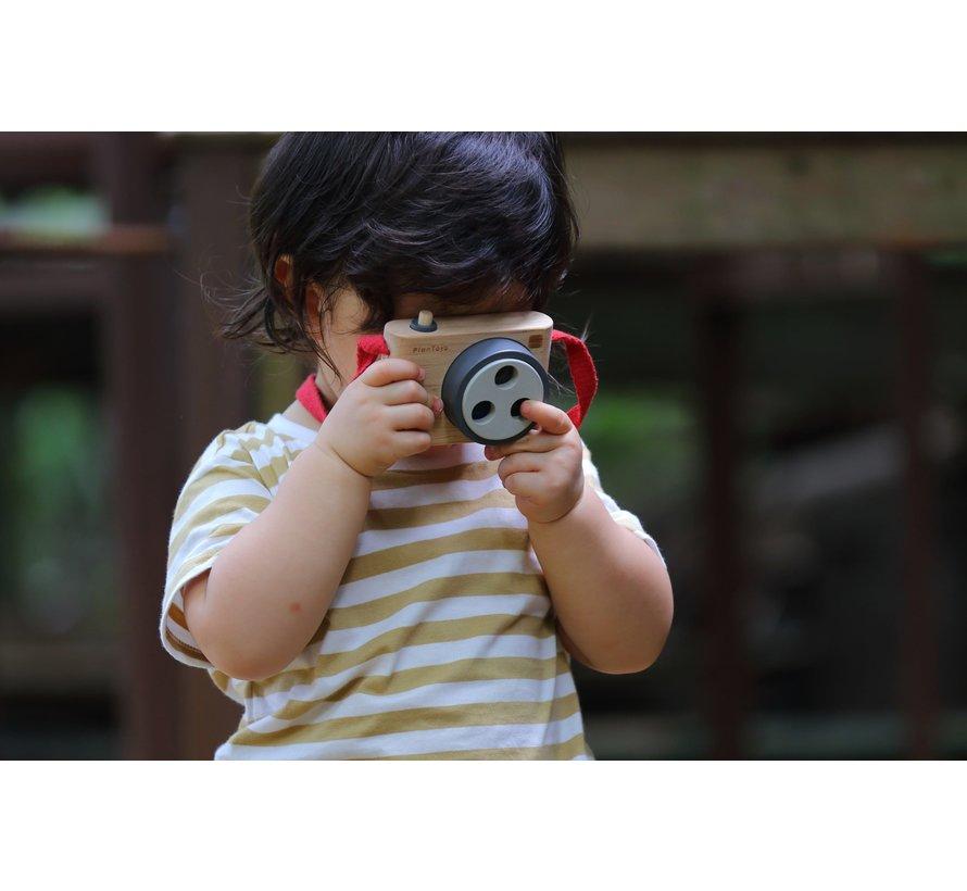 Camera met Kleurlens Hout