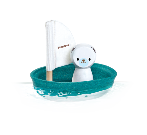 PlanToys Sailing Boat Polar Bear