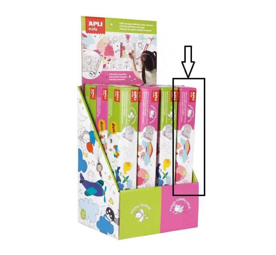 Kleurplaat Plakbaar Afneembaar Candy