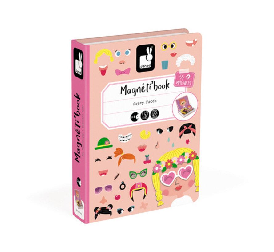 Magneetboek Gekke Meisjes Gezichten