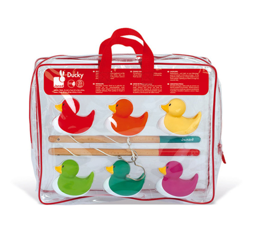 Fishing Ducks Set of 6 in Storage Bag