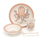 Jellycat Servies Odell Octopus Bamboo Set