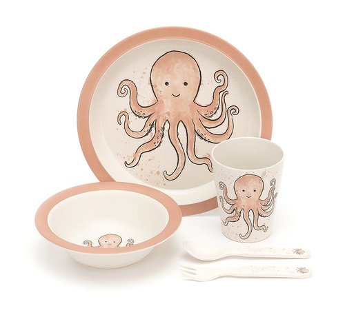Jellycat Odell Octopus Bamboo Set