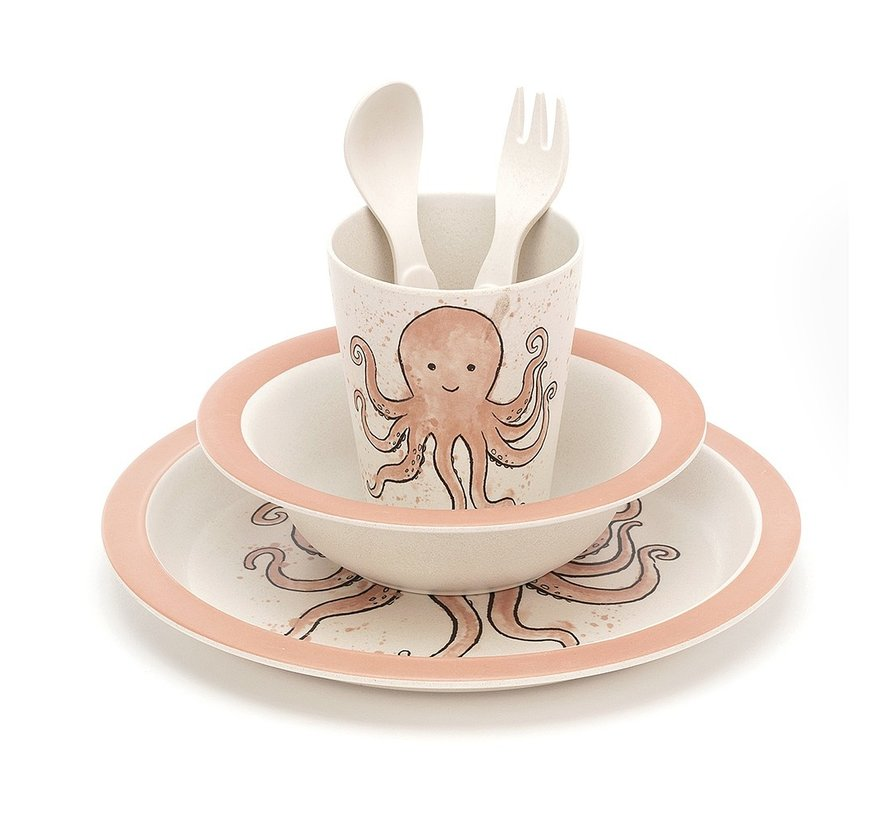 Odell Octopus Bamboo Set
