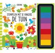 Uitgeverij Usborne Stempelen met je vingers - De Tuin