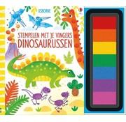Uitgeverij Usborne Stempelen met je vingers - Dinosaurussen