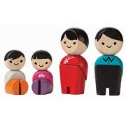 PlanToys Houten Poppetjes Aziatische Familie