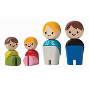 PlanToys Houten Poppetjes Europese Familie