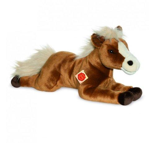 Hermann Teddy Knuffel Paard Liggend Bruin 51 cm