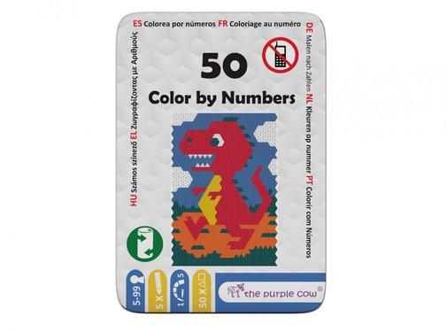 The Purple Cow Color By Numbers Tekenspel