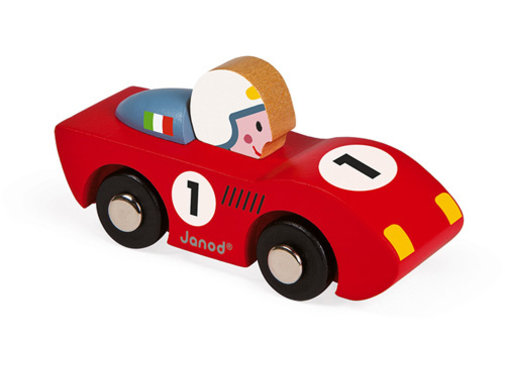 Janod Race Auto Story Rood of Blauw Hout