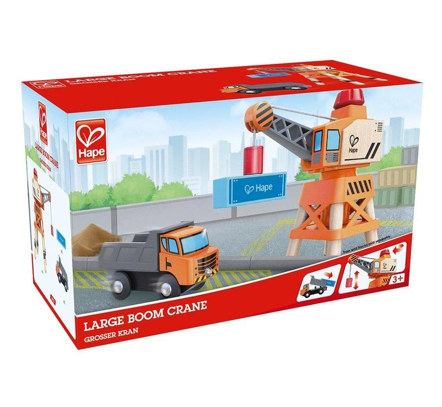 Spoorbaan Uitbreiding Grote Kraan met Vrachtwagen