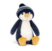 Jellycat Knuffel Pinguin Bashful Bobble Hat Penguin Navy
