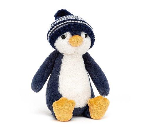 Jellycat Bashful Bobble Hat Penguin Navy
