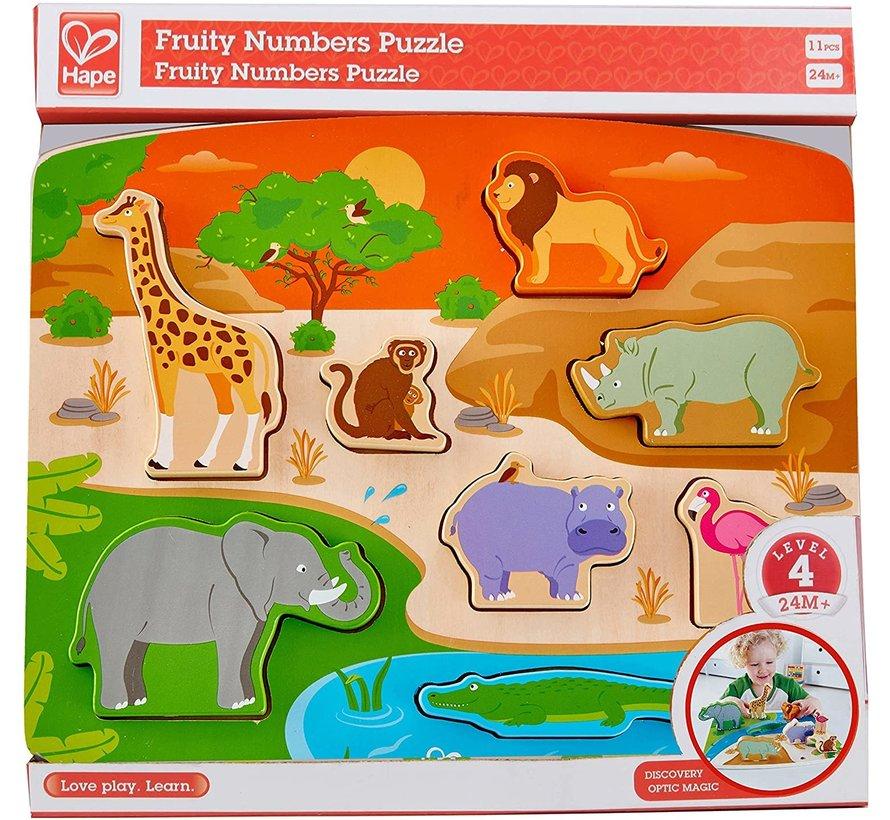 Puzzel met Stadieren Wilde Dieren