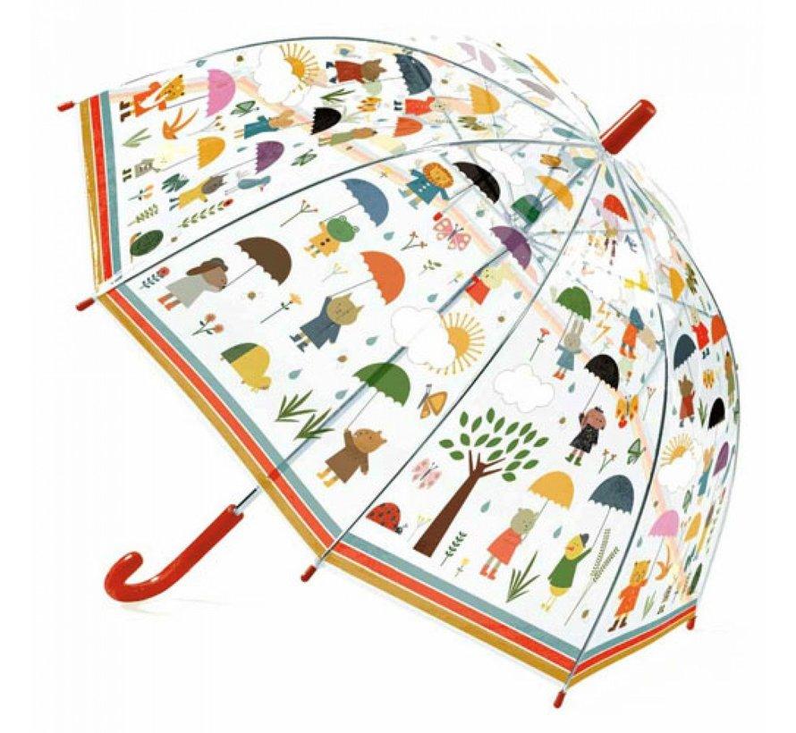 Kinderparaplu in de Regen