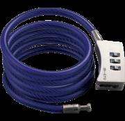 Micro Step Cijferslot Blauwe Kabel