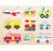Small Foot Puzzle Vehicles 9-pcs