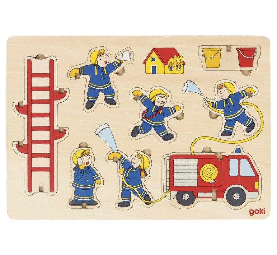 Puzzel Brandweer Staand Hout