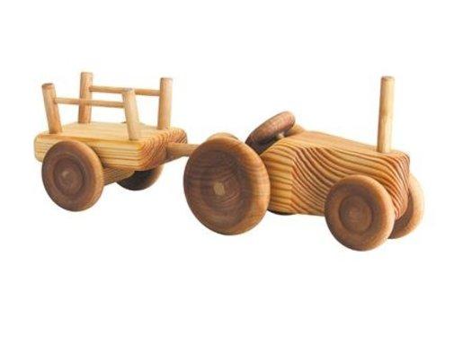 Debresk Tractor met Aanhanger Klein Hout