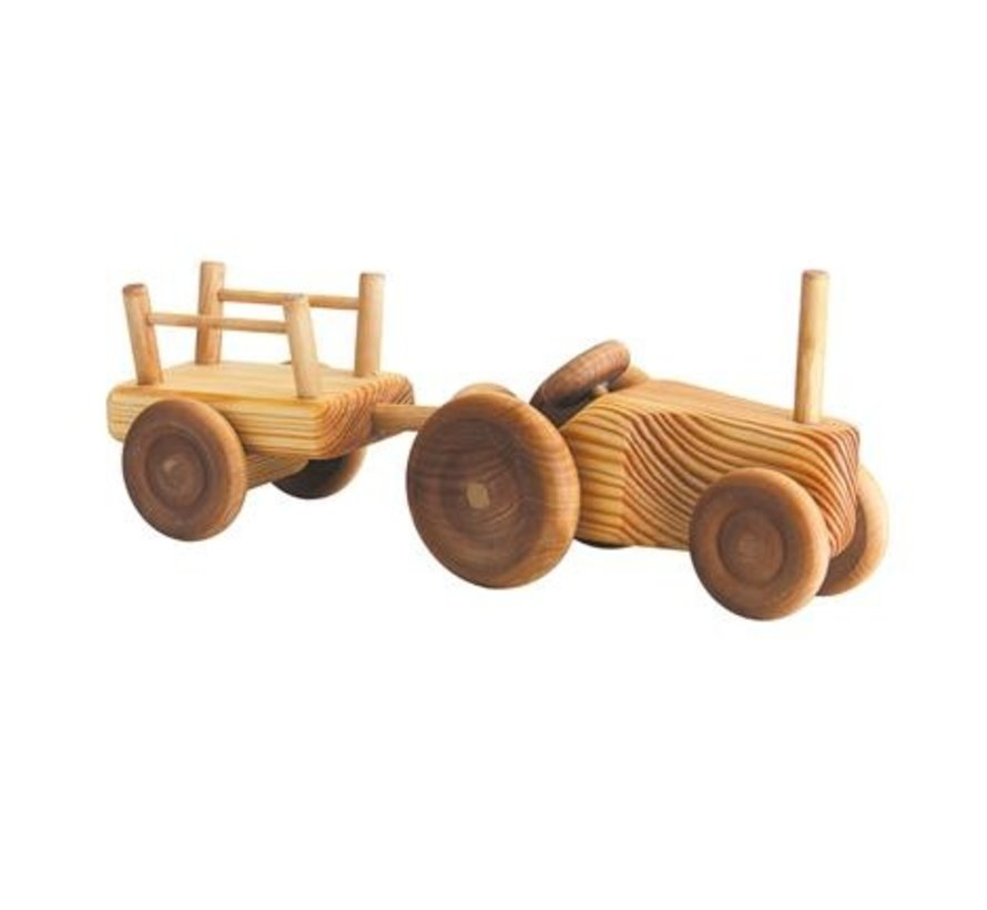 Tractor met Aanhanger Klein Hout