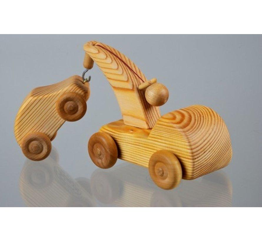 Kraanwagen met Auto Klein Hout