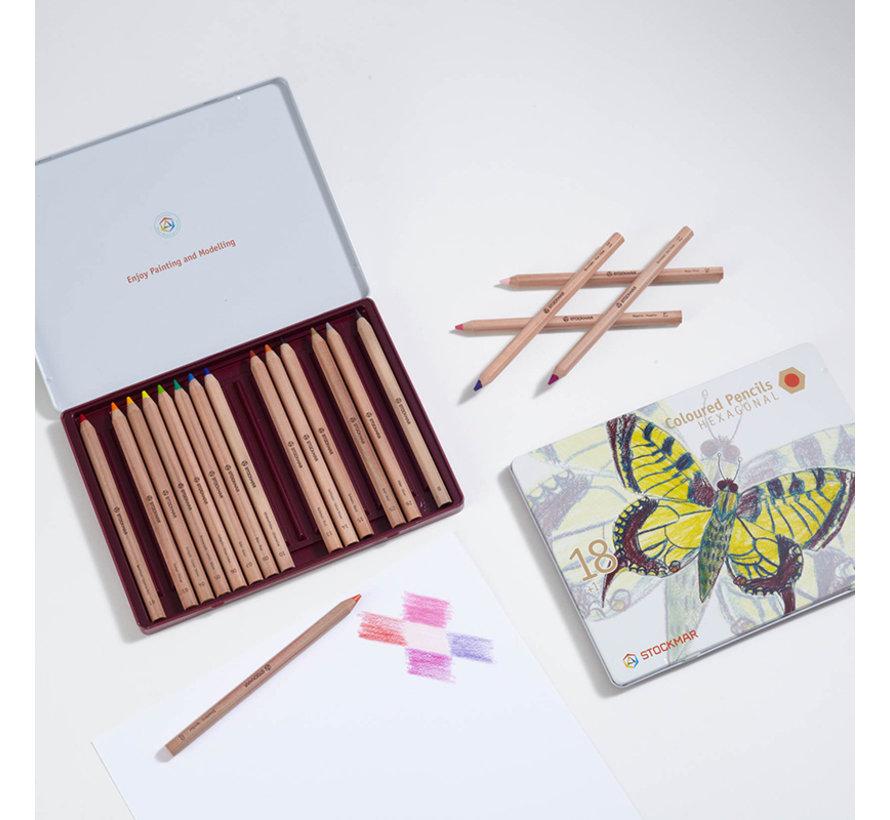 Coloured Pencils Hexagonal 18+1