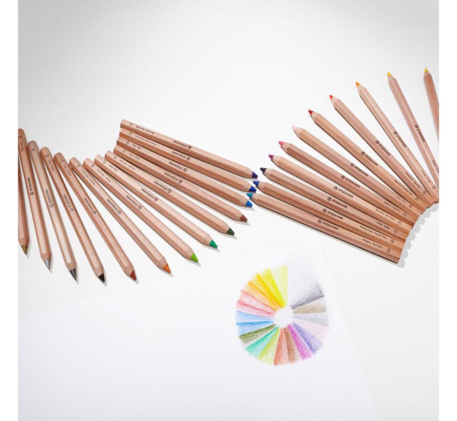 Coloured Pencils Hexagonal 24+1