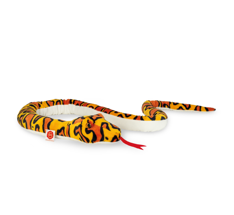 Stuffed Animal Snake Yellow-Orange