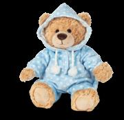 Hermann Teddy Knuffel Beer met Pyjama Blauw