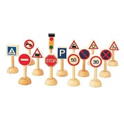 PlanToys Set of Traffic Signs and Lights