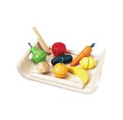 PlanToys Groente en Fruitschaal Hout 10-delig