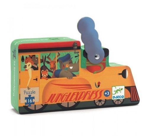 Djeco Puzzel Trein Junglexpress 16 pcs