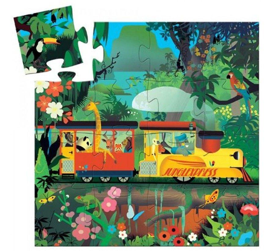 Puzzel Trein Junglexpress 16 pcs
