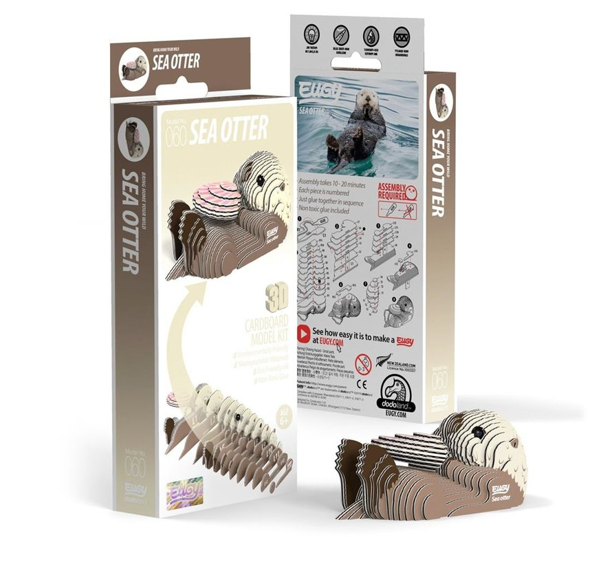 3D Cardboard Model Kit Sea Otter
