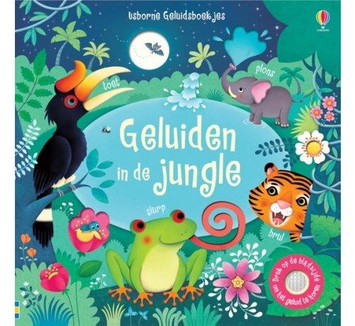 Uitgeverij Usborne Geluiden in de jungle (geluidenboek)
