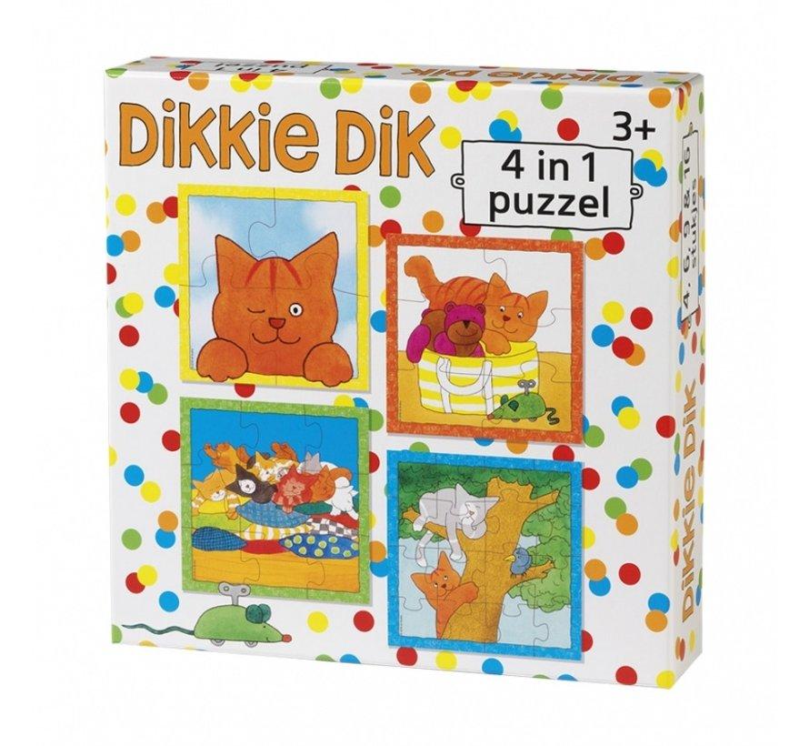 Dikkie Dik 4-in-1 puzzel