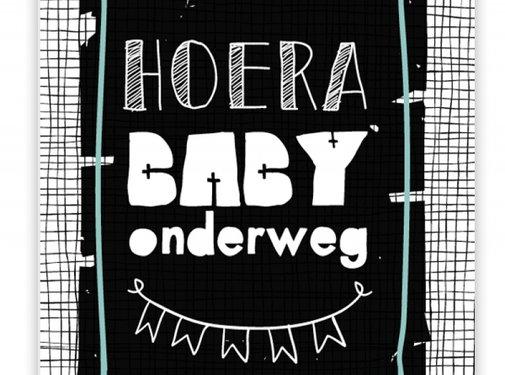 Pepermints Wenskaart Hoera Baby Onderweg