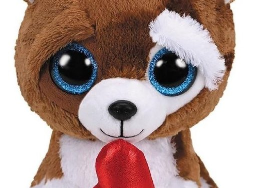 ty Beanie Buddy Smootches Heart Dog 24cm
