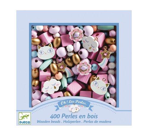 Djeco Wooden Beads Rainbow