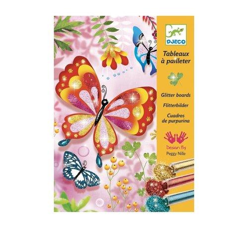 Djeco Glitterschilderij Bloemen met Beestjes
