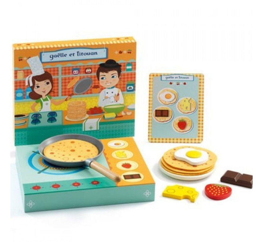 Role Play Pancakes With a Menu
