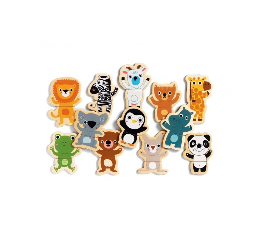Wooden Magnetic Coucou Jungle
