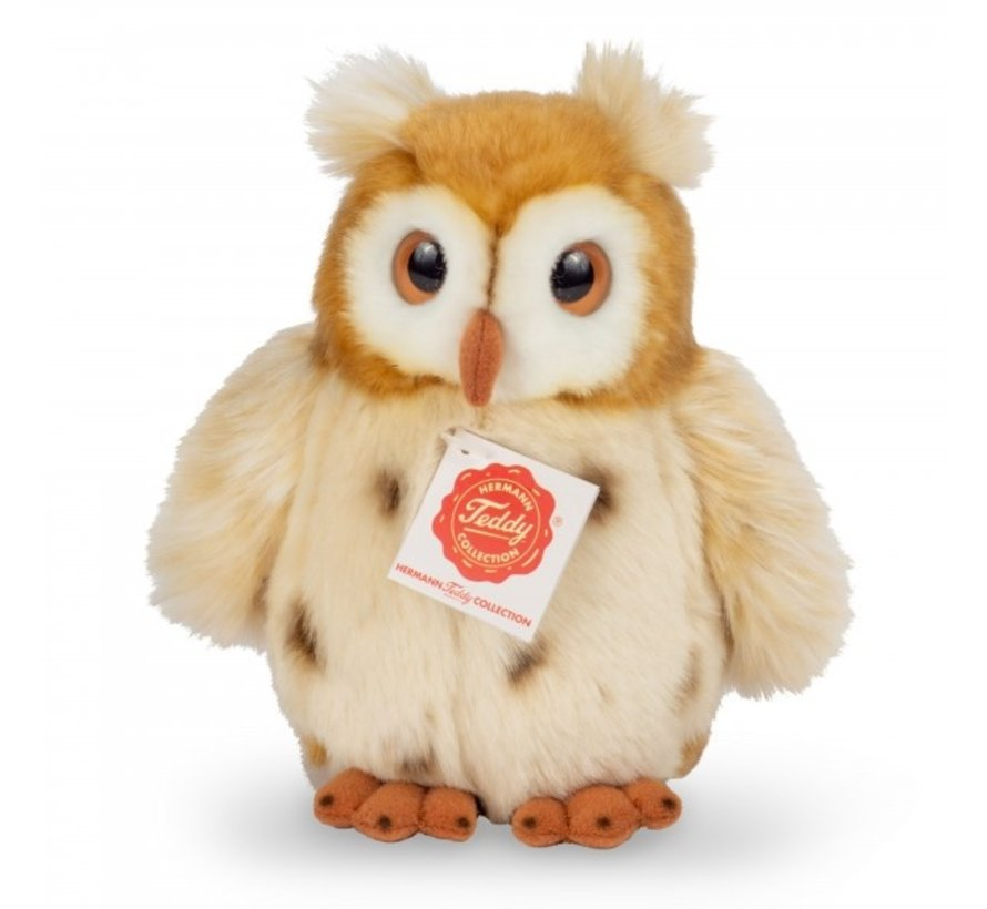Stuffed Animal Owl Golden Brown