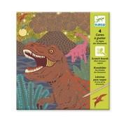 Djeco Kraskaarten Dinosauriërs