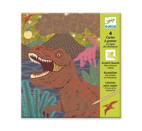 Djeco Scratch Boards Dinosaurs